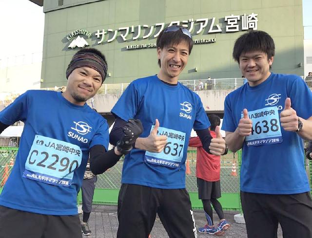 青島太平洋マラソンでの写真